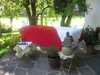 Raindropenergethikanwendungen auch im Freien, in unserem Garten oder auf der Terrasse bei Reinhildes Klang- und Regentropfenwelt