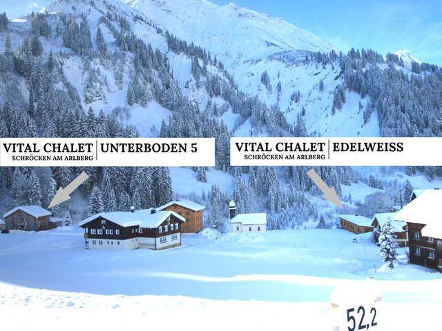 Vital Chalet Unterboden 5 und EDELWEISS Schröcken
