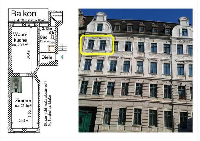 Ferienwohnung Alte Feuerwache Görlitz City - III. OG, 52m², 1 Zi mit Balkon (2344919), Görlitz, Lausitz (Sachsen), Sachsen, Deutschland, Bild 11